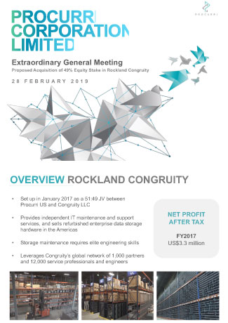 EGM - Proposed Acquisition of 49% Equity Stake in Rockland Congruity